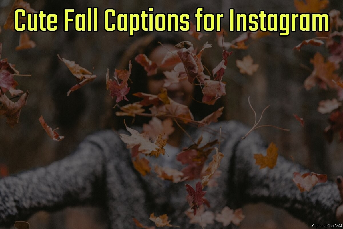 42+ Cute Fall Captions for Instagram