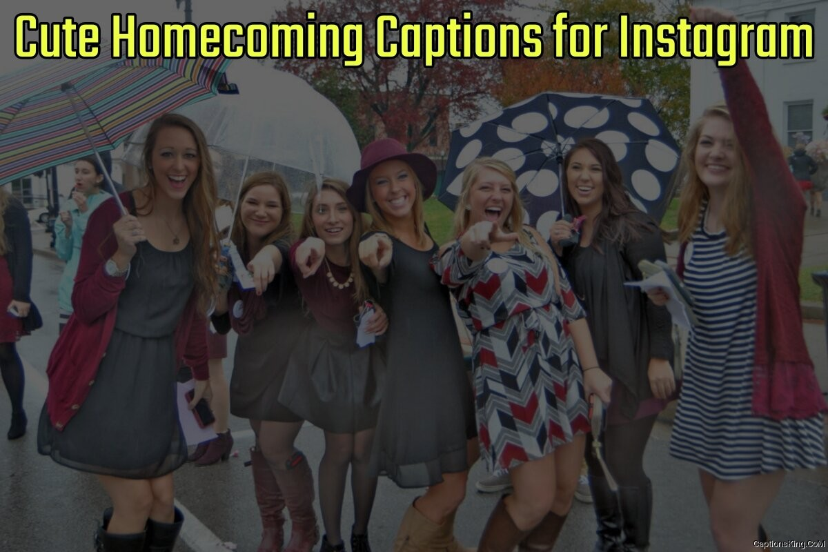 16+ Cute Hoco Homecoming Captions for Instagram